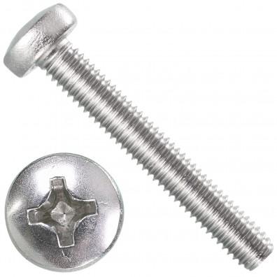 1000 Linsenschrauben M2,5 x 10 mm - DIN 7985 - PH - Edelstahl A4