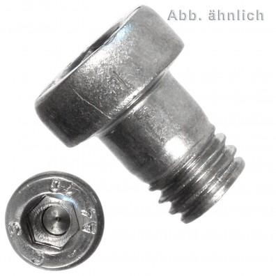 100 Innensechskantschrauben, niedriger Kopf - 6 mm x 10 mm - DIN 6912 - A4