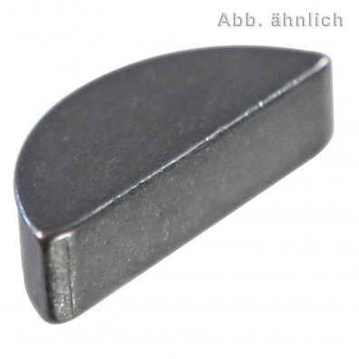 100 Scheibenfedern 5 mm x 7,5 mm - DIN 6888 - Stahl - C45+C