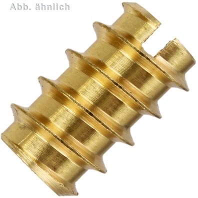 100 Einschraubmuttern DIN 7965 Messing M3 x 8