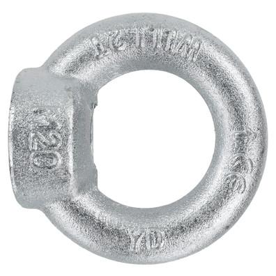 10 Ringmuttern DIN 582 - M12 - C15E Stahl - galvanisch verzinkt