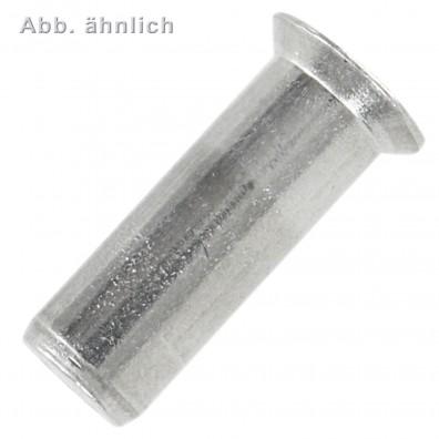500 Blindnietmuttern M8 - 1,5-4,5 mm - Aluminium - geschlossen - Senkkopf