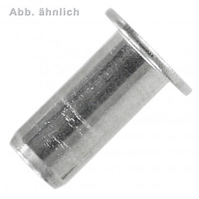 Blindnietmuttern - Aluminium - Flachkopf - Mehrbereichsschaft