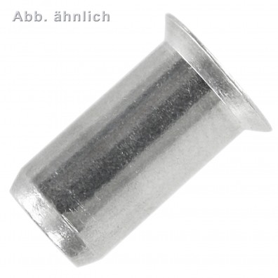 Blindnietmuttern - Aluminium - Senkkopf - Mehrbereichsschaft