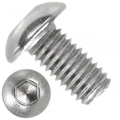 1000 Linsenschrauben mit Innensechskant M3 x 06mm - ISO 7380-1 - Edelstahl A4