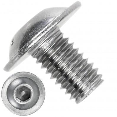 500 Linsenschrauben mit Flansch M5 x 8mm - ISO 7380-2 - ISK - Edelstahl A4