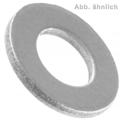 100 Unterlegscheiben DIN 125 Form A Stahl blank für M6