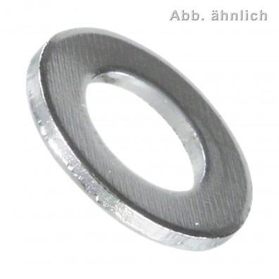 U-Scheiben DIN 125 - Form A - Messing - verchromt