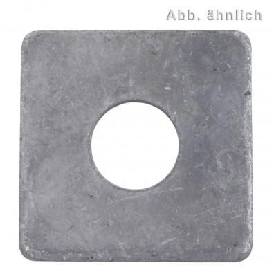 100 Vierkantscheiben für M12 - DIN 436 - feuerverzinkt
