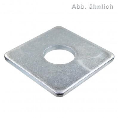 100 Vierkantscheiben DIN 436 verzinkt für M10
