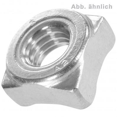 Vierkant-Schweissmuttern DIN 928 A2