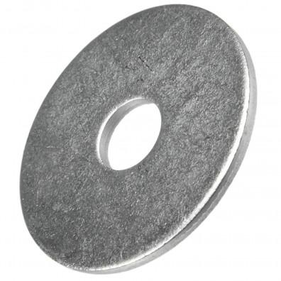 100 Stück Kotflügelscheiben galv.verzinkt für M6, 6,4 x 25 mm, Dicke 1,5 mm