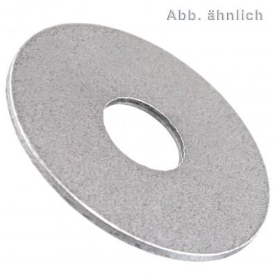 200 Kotflügelscheiben - Innen-Ø: 6,4 mm Außen-Ø: 25mm - Stahl