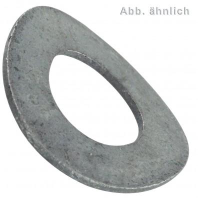 Federscheiben DIN 137 - Form B (gewellt) - mechanisch verzinkt