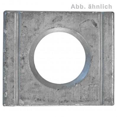 1 Vierkantscheibe - keilförmig 8% - 31 mm - DIN 6918 - Feuerverzinkt