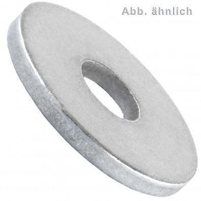 10 U-Scheiben DIN 440 Form R blank 45 mm für M42
