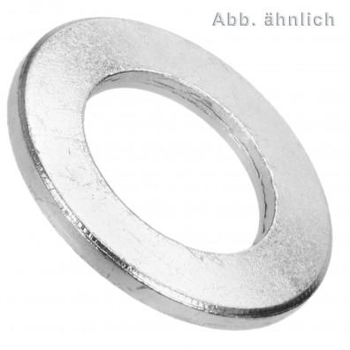 50 U-Scheiben DIN 125 Form B Edelstahl A4 21 mm für M20