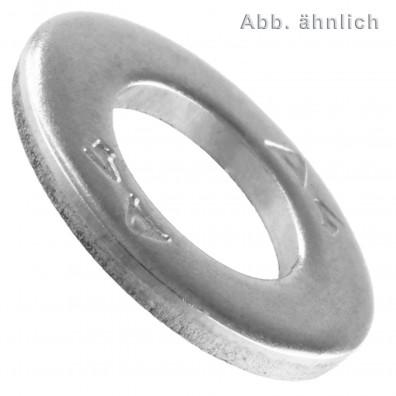 10 Unterlegscheiben DIN 125 Form A - für M50 - Aussen-Ø=92mm - Edelstahl A4