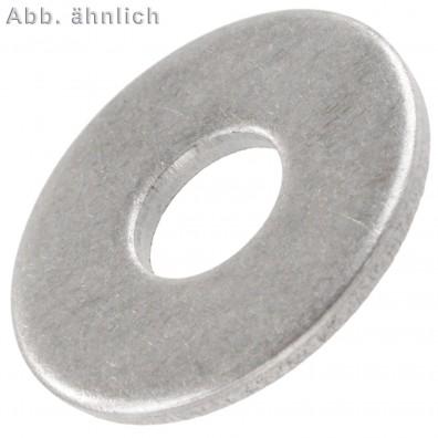 500 Unterlegscheiben DIN 9021 für M7 - Aussen-Ø =  22 mm - Edelstahl A4