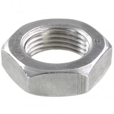 50 Sechskantmuttern - M18 - Feingewinde 1,5mm - niedrig, Form B - A2 - DIN 439