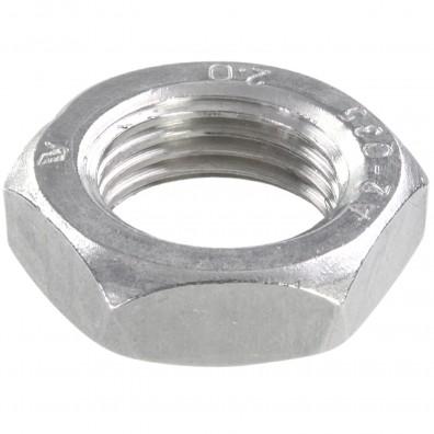 25 Sechskantmuttern - M22 - Feingewinde 2mm - niedrig, Form B - A2 - DIN 439