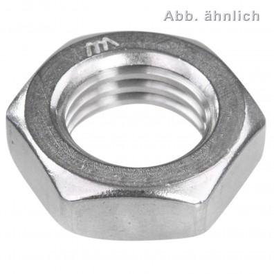 Sechskantmutter DIN 439 Edelstahl A2 niedrige Form B Linksgewinde
