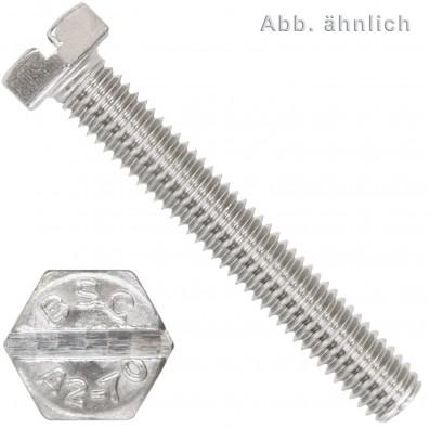 Sechskantschrauben DIN 933 - Edelstahl A2 - Schlitz