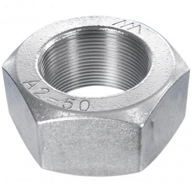 25 Sechskantmuttern Mf30 - SW46 - Feingewinde 2mm - Edelstahl A2 - DIN 934