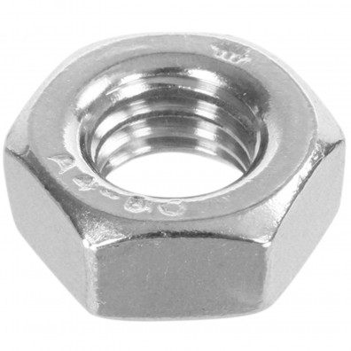 100 Sechskantmuttern Mf10 - SW17 - Feingewinde 1mm - Edelstahl A4 - DIN 934