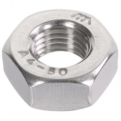 100 Sechskantmuttern Mf10 - SW17 - Feingewinde 1,25mm - Edelstahl A4 - DIN 934
