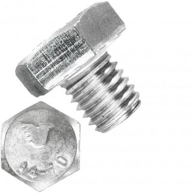100 Sechskantschrauben M10 x 10 mm - SW 17 - Edelstahl A4 - 70 - DIN 933