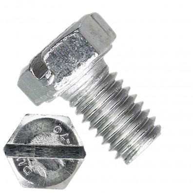 500 Sechskantschrauben M5 x 08 mm - DIN 933 - Edelstahl A4 - mit Schlitz