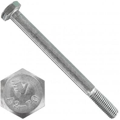 6 Sechskantschrauben DIN 931 - M10 x 120mm - Edelstahl A2