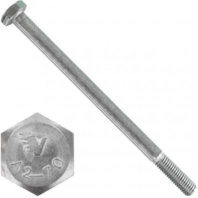 10 Sechskantschrauben DIN 931 - M10 x 160mm - Edelstahl A2