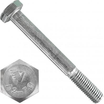 100 Sechskantschrauben DIN 931 - M8 x 70mm – Edelstahl A2