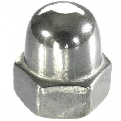 100 Hutmuttern DIN 1587 - M4 - Edelstahl A2