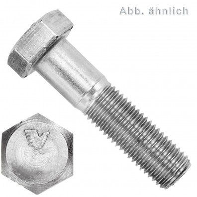 1 Sechskantschraube DIN 931 - M20 x 90mm - Edelstahl A5