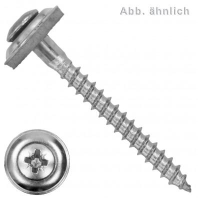Spenglerschrauben - Scheibendurchmesser 20mm (D20) - Pozidriv(PZ) - Edelstahl A2 - 2 teilig