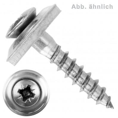 Spenglerschrauben - Scheibendurchmesser 25mm (D25) - Pozidriv(PZ) - Edelstahl A2 - 2 teilig
