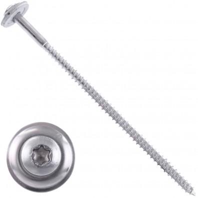 20 Spenglerschrauben 4,5 x 150 mm - inkl. Scheibe - TX20 - Edelstahl A2