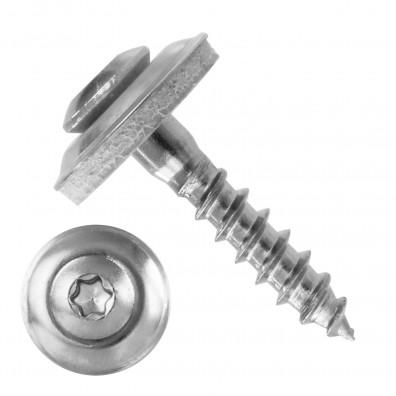 50 Spenglerschrauben 4,5 x 25 mm - inkl. Scheibe - TX20 - Edelstahl A2