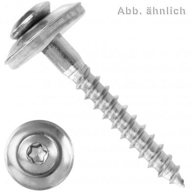 Spenglerschrauben - Scheibendurchmesser 15mm (D15) - Torx(TX) -  Edelstahl A2 - 2 teilig