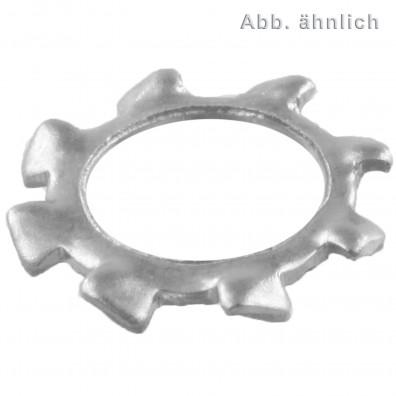 1000 Zahnscheiben für M10 - Edelstahl A2 - DIN 6797 Form A