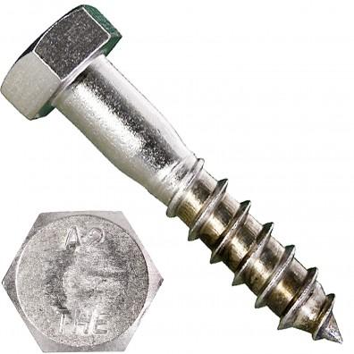 100 Schlüsselschrauben 12x60 mm - Edelstahl A2 - DIN 571