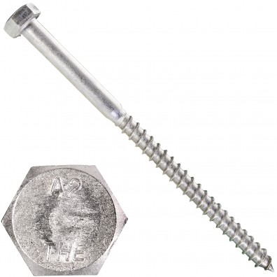 15 Schlüsselschrauben 8x130 mm - Edelstahl A2 - DIN 571