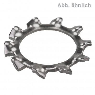 Zahnscheiben DIN 6797 - Form A - Edelstahl 1.4310