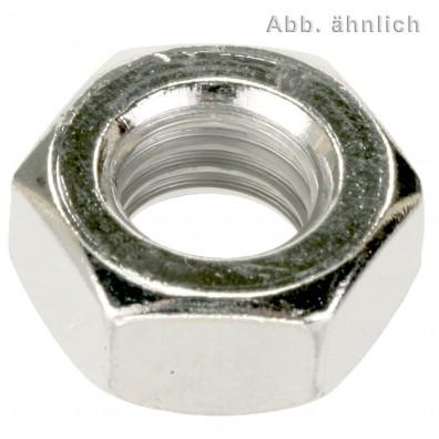 50 Sechskantmuttern M12 - Feingewinde 1,5mm - niedrige Form - A2 - DIN 936