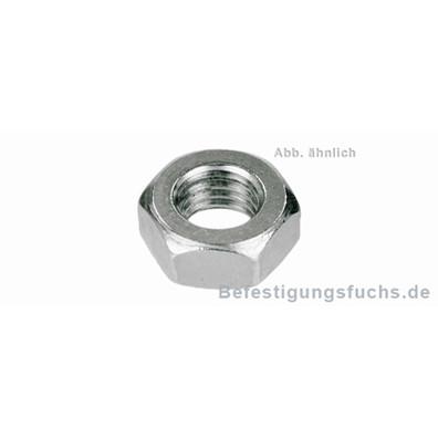 100 Sechskantmuttern M14 - niedrige Form - SW22 - Edelstahl A2 - DIN 936