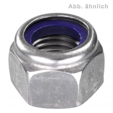 100 Sechskantmuttern mit Klemmteil M8 - DIN 982 - hohe Form - Edelstahl A2