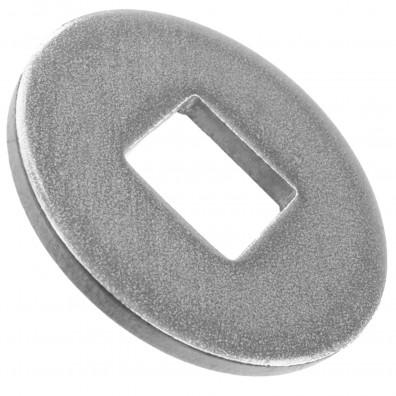 50 Unterlegscheiben DIN 440 A2 Edelstahl Form V Vierkantloch M16
